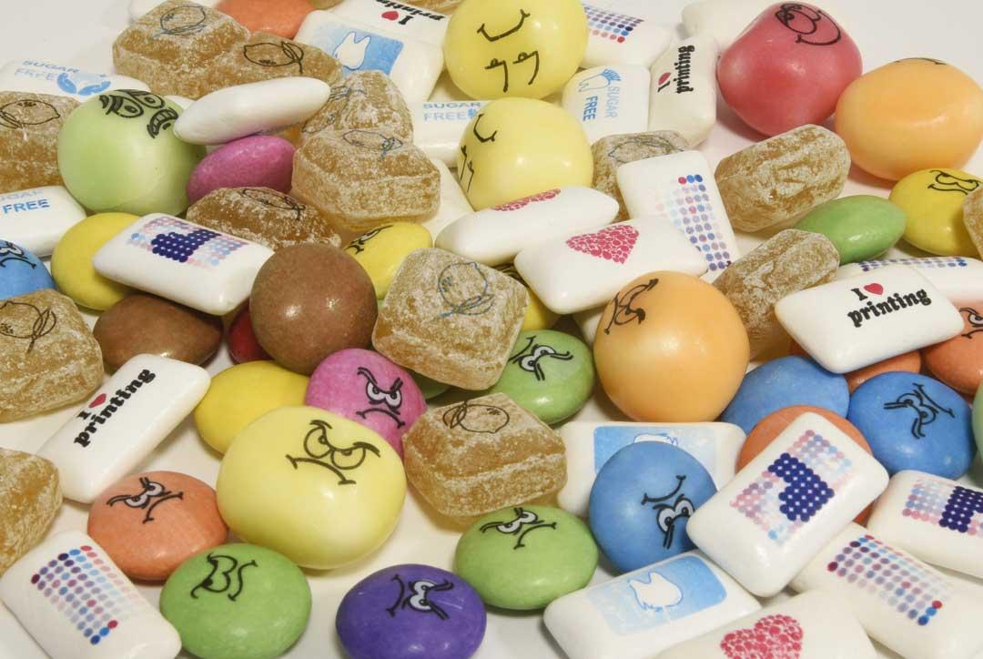 Süßwaren Tampondruck